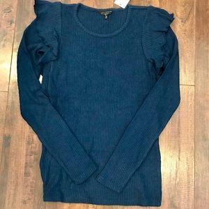 🆕Lucky brand Steele blue sweater! NWT!